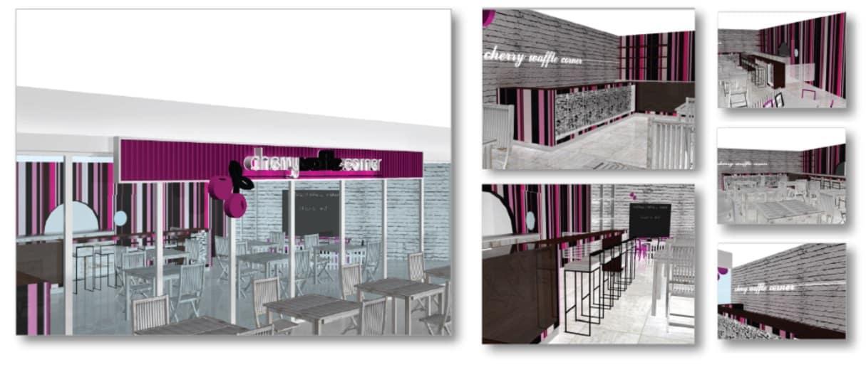 Cherry Waffle Corner – Concept Sweet Store
