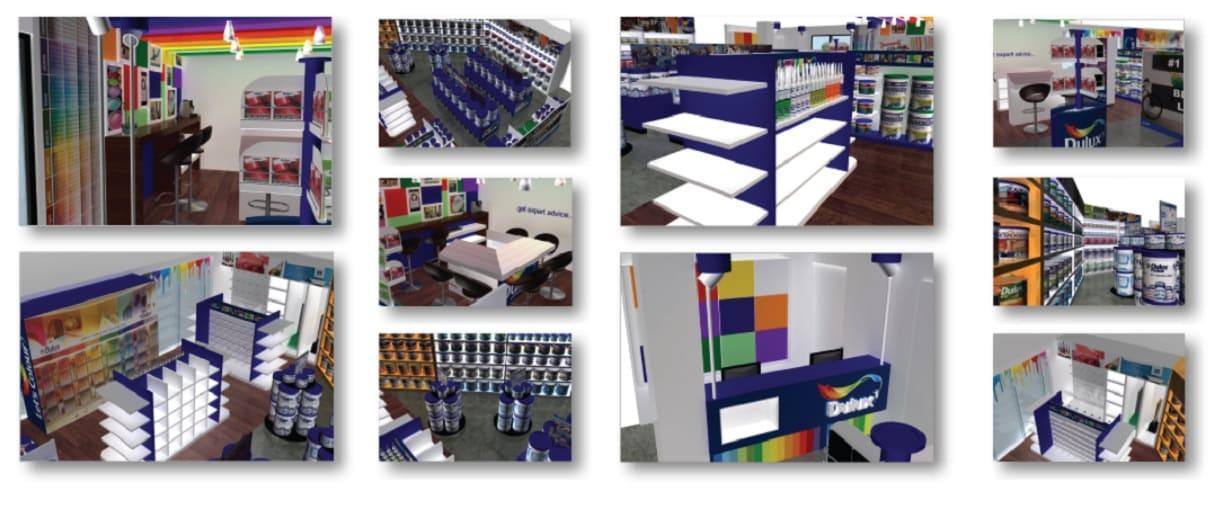 Dulux Paints – Concept Paint Store